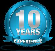 10 χρόνια εμπειρίας